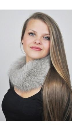 Grey fox fur headband