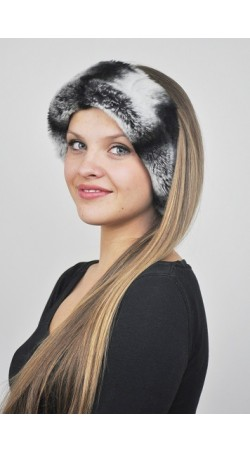 Rex-Chinchilla fur headband