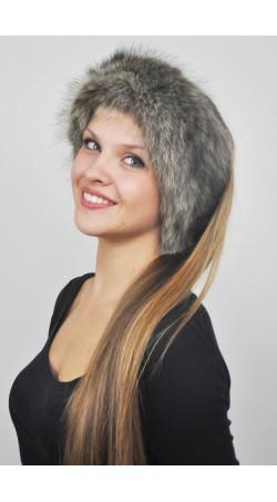 Raccoon fur headband