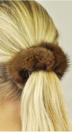 Hair rubber band - mink fur