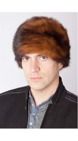 Dark Polecat fur hat