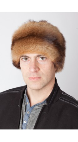 Polecat fur hat