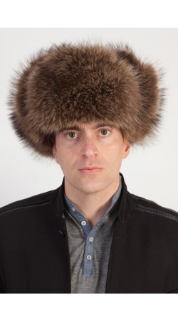 Natural raccoon fur hat - Russian style