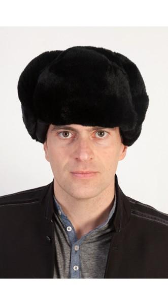 0e994b46a52e3 Black rex fur hat - Russian style