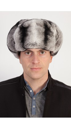 Rex-chinchilla fur hat - Russian style