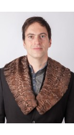 Brown karakul lamb fur collar