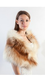 Arctic Platinum Gold Fox Fur Stole