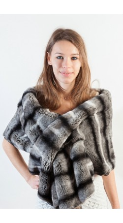 Rex Chinchilla fur wrap
