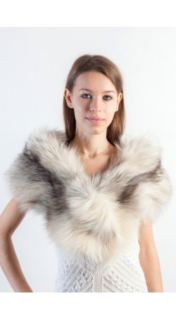 Arctic Platinum Fox Fur Stole