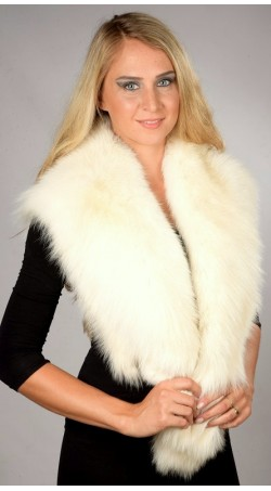 White Fox Fur Collar