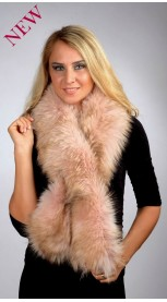 Pink Fox Fur Scarf