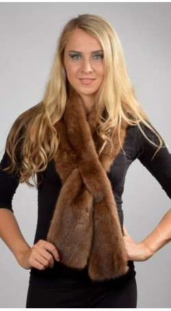 Mink Fur Scarf Long