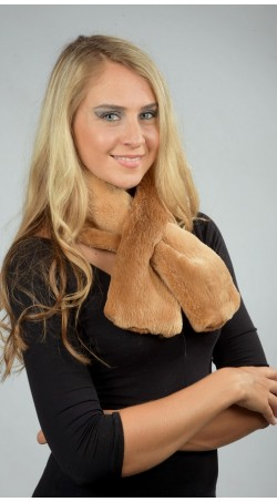 "Beaver fur scarf - ""Canadian beaver"" - Double Sided Fur"