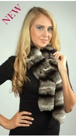 Rex-Chinchilla Fur Scarf
