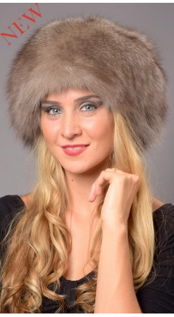 Grey Sapphire Fox Fur Hat