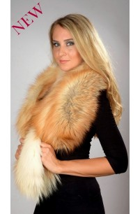 Golden Fire Fox Fur Collar