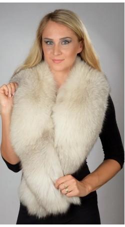 Grey Fox Fur Collar