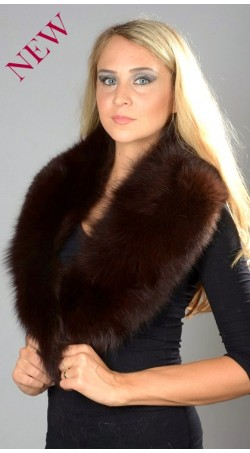 Dark Brown Fox Fur Collar