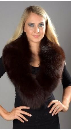 Dark Brown Fox Fur Collar