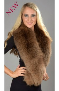 Brown Fox Fur Collar