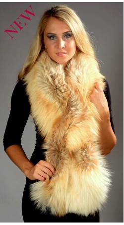 Fox Fur Scarf - Arctic Fire Fox