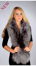Fox Fur Scarf - Blue