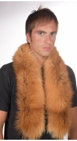 Men's golden fox fur scarf