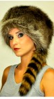 Raccoon fur hats