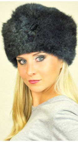 Possum fur hat - Dark blue