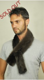 Polecat fur scarf - double sided fur