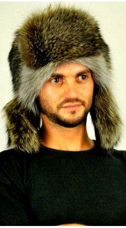 Raccoon fur hat - russian style
