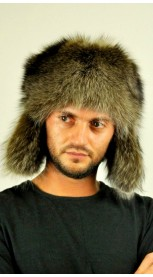 Raccoon fur hat - ushanka