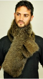 Raccoon fur scarf