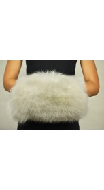 Hand Muff - White fox fur