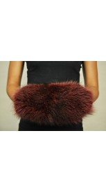 Hand Muff - Red raccoon fur