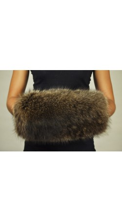 Hand Muff - Raccoon fur