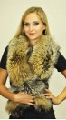 Cross fox fur scarf