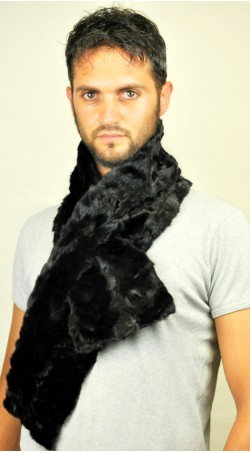 Mink fur scarf - Created with black mink fur remnants