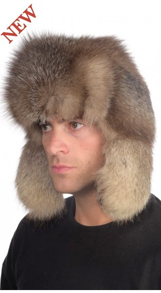 Crystal fox fur hat