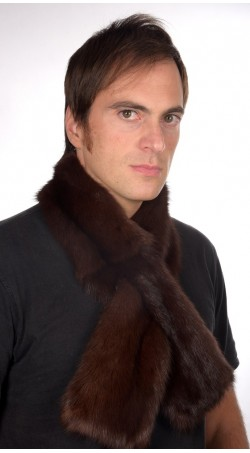 Dark Brown Sable fur scarf, for men