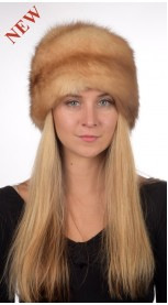 Sable fur hat classic - Golden color