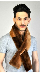 "Beaver fur scarf - ""Champagne canadian beaver"""