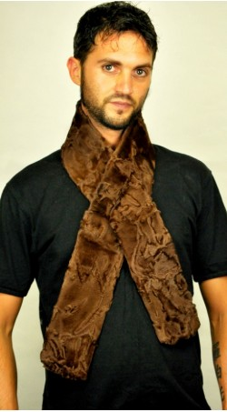 Karakul fur scarf - Brown