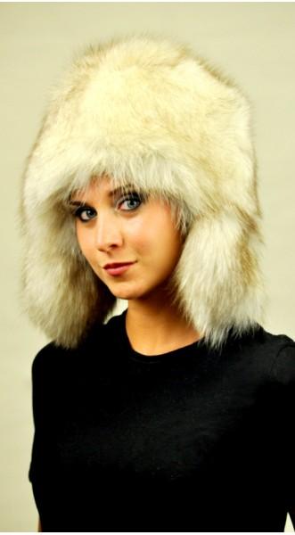 Arctic Greenland fox fur hat Ushanka