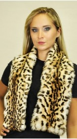"""Spotted"" rabbit fur scarf"