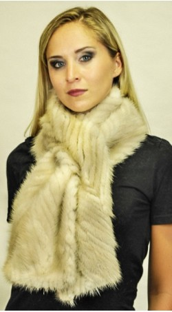 "Mink fur scarf - ""Beige-cream colour"""
