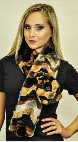 """Mink fur scarf """"Colorful"""" - Created with mink fur remnants"""