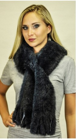Possum fur scarf - Blue