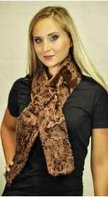 Karakul fur scarf - Brown colour