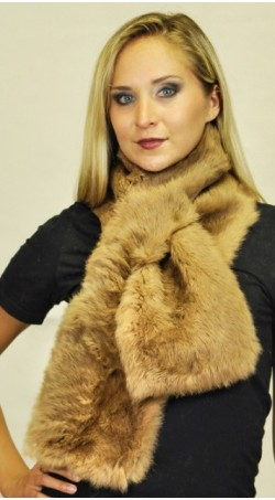 Rabbit fur scarf